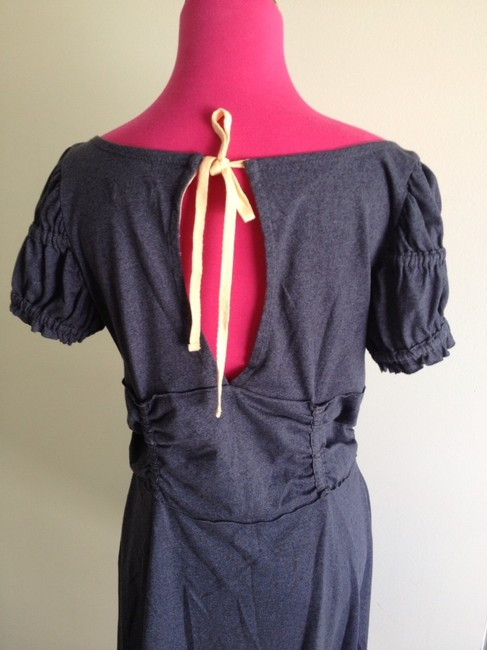 Free People short dress Blue Designer Tunic Heather Short Sleeve Low V Low Back Gathered Adorable Lace Up Spring Summer Weekend Wear on Tradesy Image 6