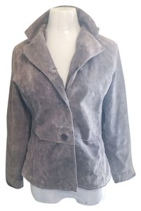 Brandon Thomas Suede Leather Collared Classy Trench Coat