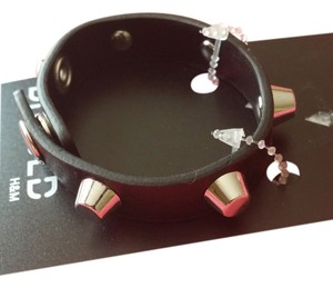Divided by H&M H&M faux leather silver studs bracelets