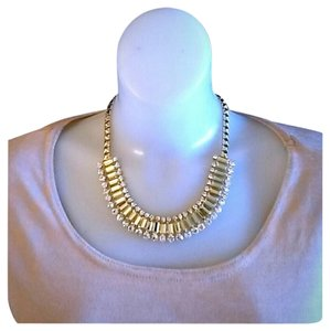 Champagne Austrian Crystal Gold Tone Necklace