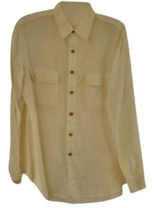 Kenar Linen Button Down Shirt white