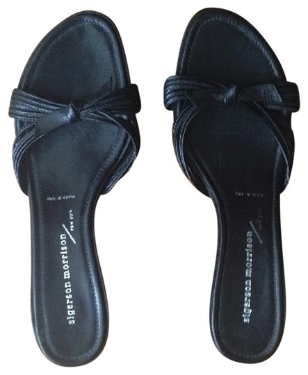 Sigerson Morrison Leather Black Mules