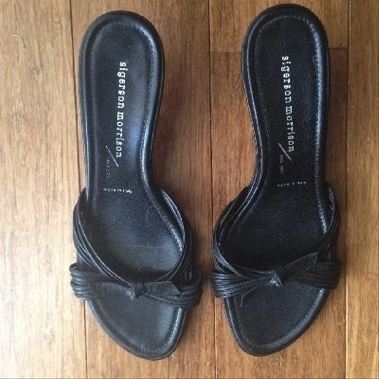Sigerson Morrison Leather Black Mules Image 1