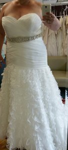 **must Sell! Help A Bride In Need! New (never - Worn Sample) Allure Plus Size Wedding Gown In Amazing Condition