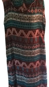 Teal Print Maxi Dress by J.Young Designs
