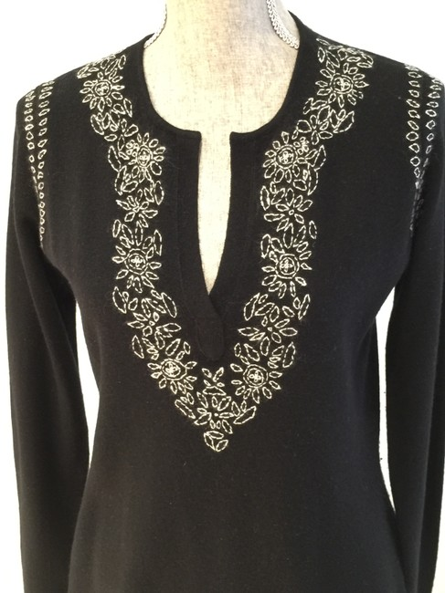 Lord & Taylor Cashmere Cashmere Tunics Size Small Embroidered Sweater Image 1