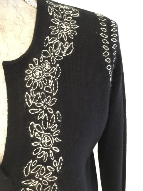 Lord & Taylor Cashmere Cashmere Tunics Size Small Embroidered Sweater Image 2