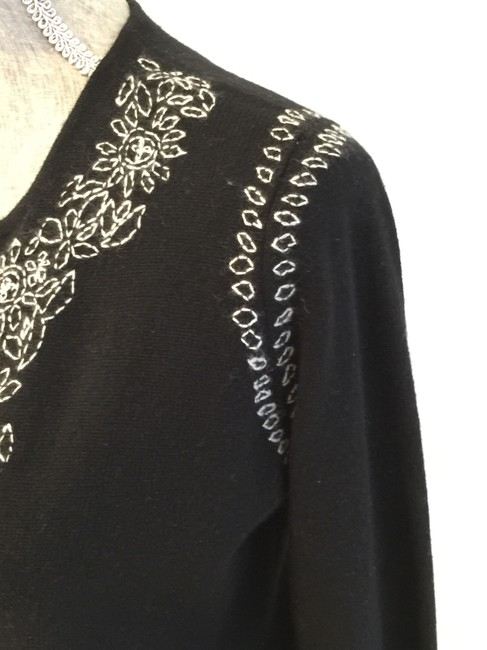 Lord & Taylor Cashmere Cashmere Tunics Size Small Embroidered Sweater Image 3