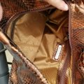 NICOLI Metallic Snakeskin Purse Shoulder Bag Image 3
