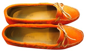 Antonio Bossi orange pony hair Flats