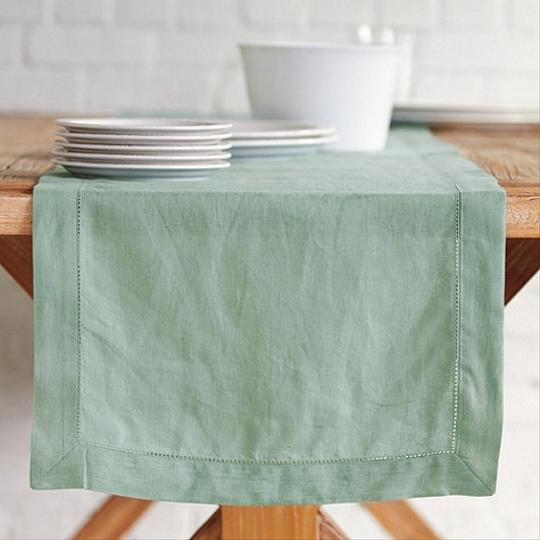 Hemstitch Linen Table Runners (#8)