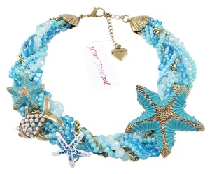 Betsey Johnson Betsey Johnson Necklace 'Into the Blue' Seashell Starfish Ocean Blue