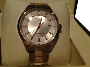 TAG Heuer TAG HEUER CARRERA CALIBRE 5 STAINLESS & SOLID 18k GOLD 2012 WV215A