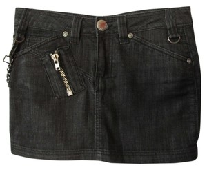 Antik Denim Mini Skirt Black