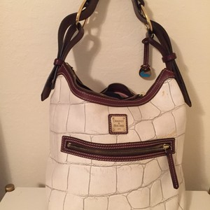 Dooney & Bourke Croco Embossed Leather Hobo Bag