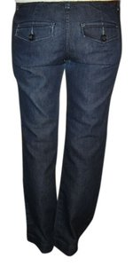 The Limited Vintage Casual Office Wear In The Rear Boot Cut Jeans-Dark Rinse