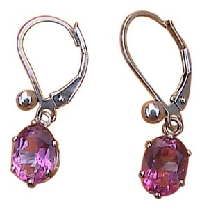 Sterling Silver CZ Dangling Earrings