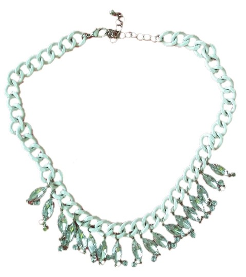 H&M H&M white crystal teardrop necklace