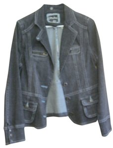 1 Madison Black Womens Jean Jacket