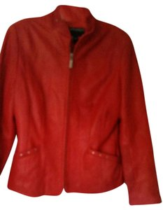 Bernardo Red Leather Jacket