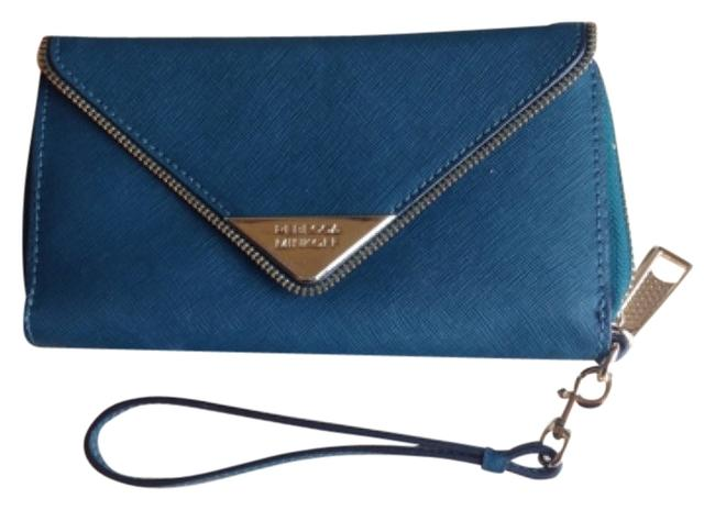Item - Zoey Tech Teal Leather Wristlet