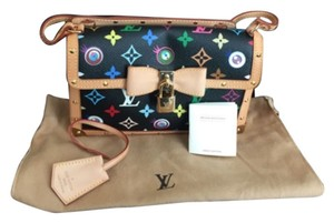 Louis Vuitton Excellent Takashi Murakami Collection Eye Need You Multi-Color Clutch