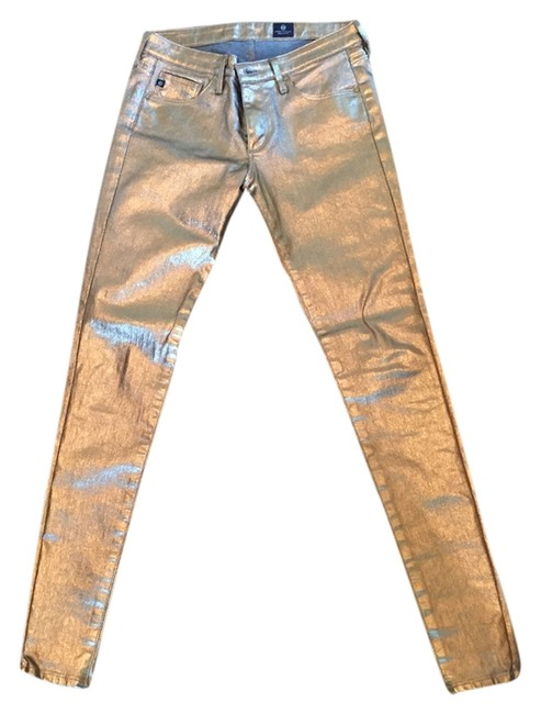Item - Gold Coated Skinny Jeans Size 26 (2, XS)