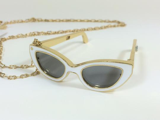 Kate Spade RARE! Cheeky Warmth in the Winter Cold! Kate Spade Made in the Shade Necklace NWT Sunnies that Open Up! Image 1