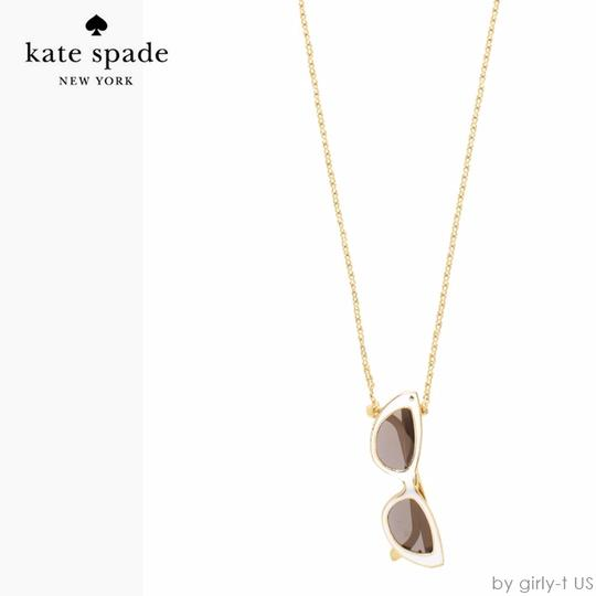 Kate Spade RARE! Cheeky Warmth in the Winter Cold! Kate Spade Made in the Shade Necklace NWT Sunnies that Open Up! Image 4
