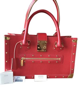 Louis Vuitton Lv Suhai Leather Satchel in Red