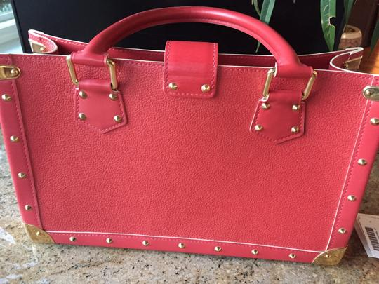 Louis Vuitton Lv Suhai Leather Hanbag Satchel in Red Image 8