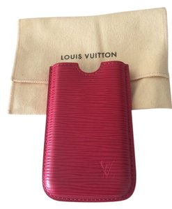 Louis Vuitton Louis Vuitton red epi leather phone case