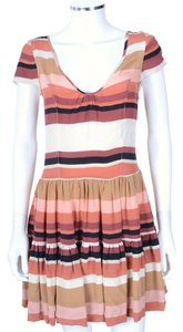 Joie short dress Cap Sleeve Striped Silk Full Skirt on Tradesy