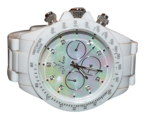 ToyWatch White ToyWatch with Mother of Pearl Face Faux