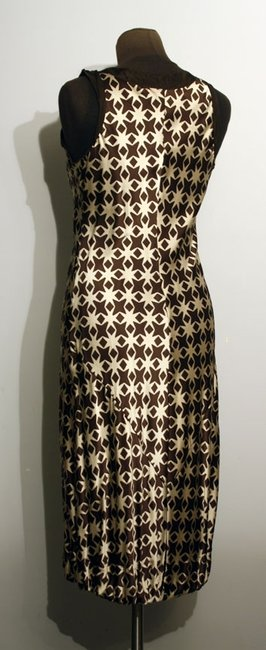 Anthropologie A Common Thread Silk Shift Print Dress Image 1