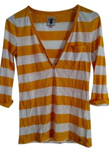 Victoria's Secret T Shirt Yellow and white stripes