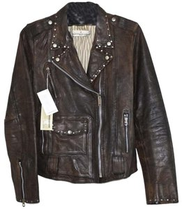 Golden Goose Deluxe Brand Motorcycle Moto Leather Biker Studded Rugged Perfecto Utility New Motorcycle Jacket