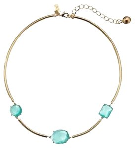 Kate Spade Minimalist Zen Design! Kate Spade Beach Jewels Necklace NWT Tropical Beach Blue Stones on 12K Gold Bead Chains! Perfect for Beach Dreams in the Winter!