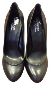 Cole Haan Blue Bottom Mirror Leather Black Pumps