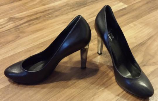 Cole Haan Blue Bottom Mirror Leather Black Pumps Image 1