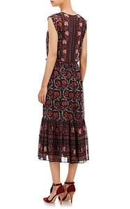 Ulla Johnson Bohemian Chic Midi Silk Romantic Dress