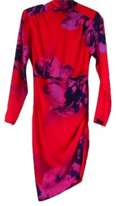 Marciano Floral Longsleeve Collar Dress