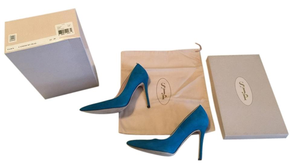 SJP by Parker Sarah Jessica Parker by Teal/Turquoise Fawn Pumps 27b9fa
