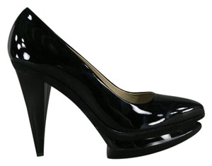 Gianfranco Ferre Platform Double Shiny Coneheel Pointed black Pumps