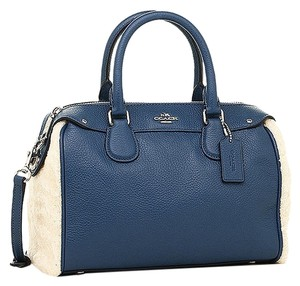 Coach F36689 Satchel in SILVER/SLATE/NATURAL