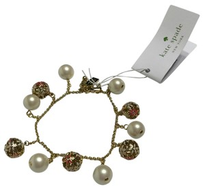 Kate Spade Kate Spade New York Pearl Wallflower Bracelet Gold/Cream/Pink O0RU0946
