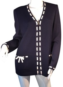 St John jacket. navy blue and white. Never worn . Withthe ticket Button Down Shirt