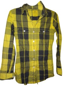 Nollie Button Down Shirt yellow and black plaid