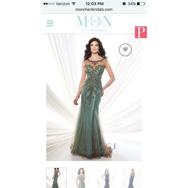 Item - Aqua/Bronze Formal Wedding Dress Size 20 (Plus 1x)