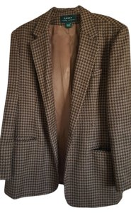 Lauren Ralph Lauren Brown Chocolate and camel houndstooth Blazer